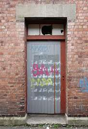 door graffiti paint