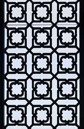 morocco moorish glass door ornate ornament