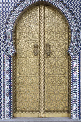 morocco metal door ornate ornament brass gold gilded
