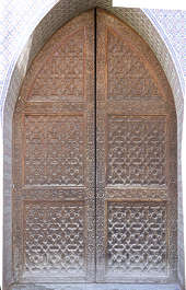 morocco ornament wooden carvings carving wood door doors moorish islamic palace arab arabian arabic