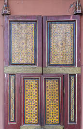 morocco africa moorish islamic arabic arabian wood ornate ornament painted door double