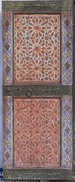 ornament moorish morocco door double wood ornate big