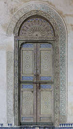 ornament moorish morocco door double wood