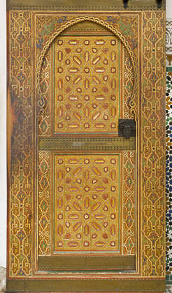 ornament moorish morocco door ornate