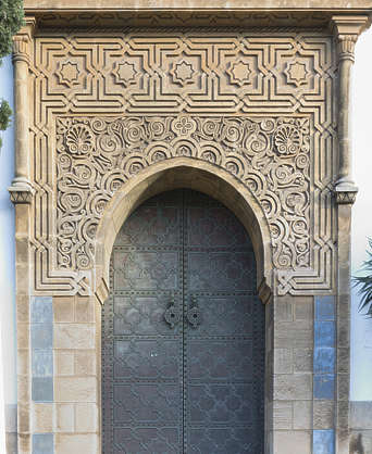 door doors morocco arabic moorish ornate arch archway