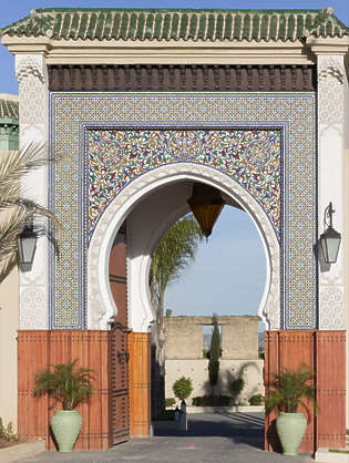 morocco arabic moorish ornate arch