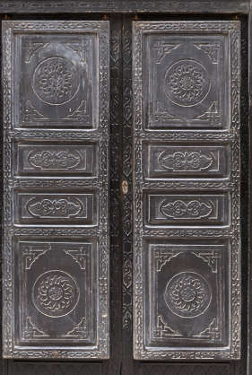 door doors morocco arabic moorish ornate wooden double