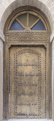 door doors morocco arabic moorish ornate wooden single studded old medieval