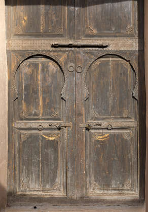 morocco door wood old medieval ornate moorish