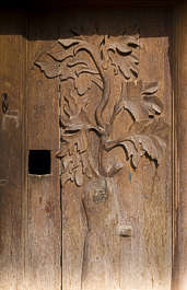 morocco door wood old medieval ornate leaf