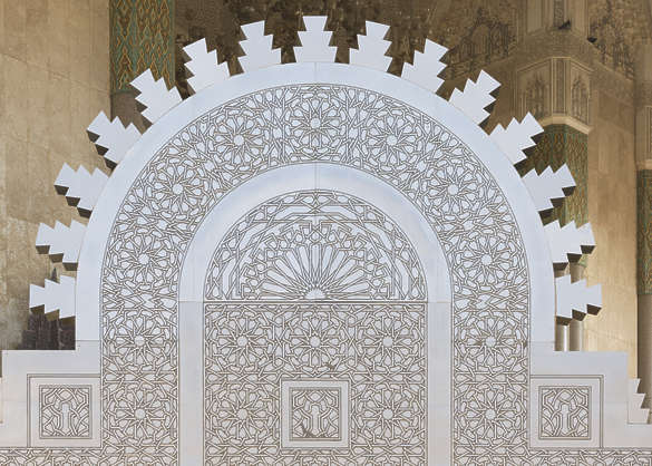 morocco door metal ornate moorish