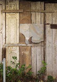 wood door painted old barn