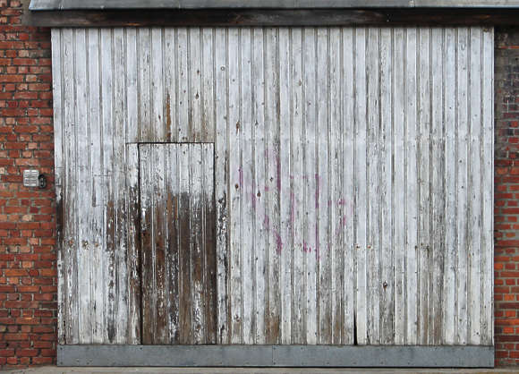 door garage wood planks barn