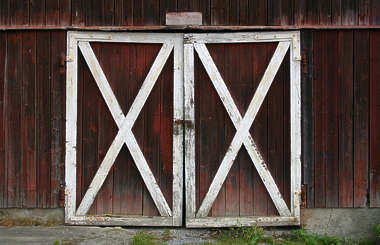 wood door barn planks old painted