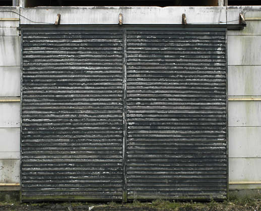 door industrial wood planks old dirty barn