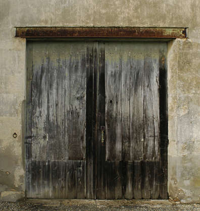 door wood planks dirty old garage barn