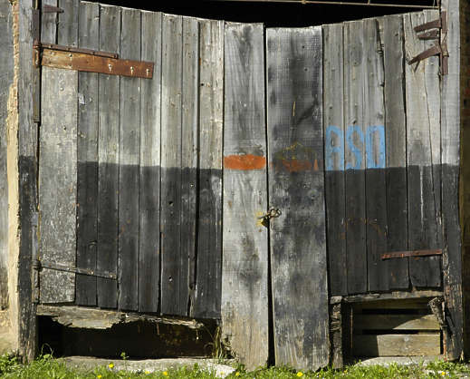 door wood planks painted barn garage