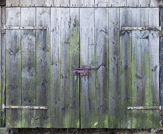 wood door old shed planks barn