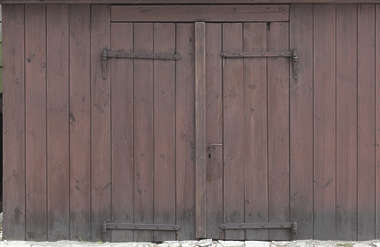 door barn wood old double