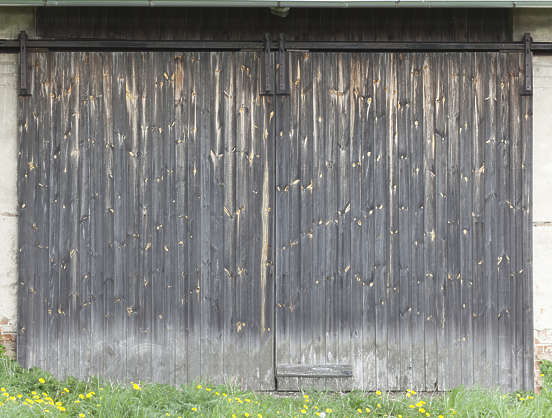 door wooden old double barn gate