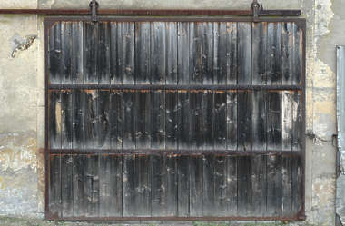 door wood sliding metal old barn