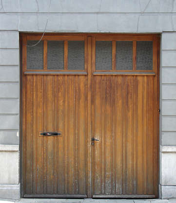 door wood garage double