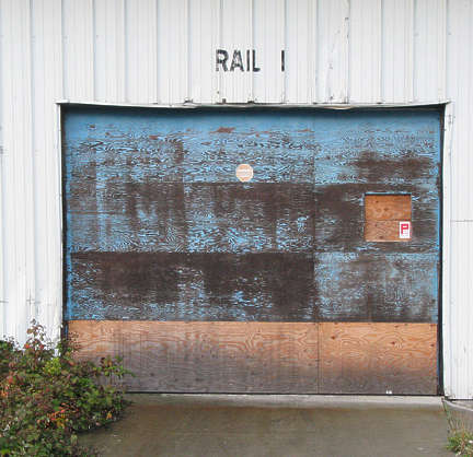 door industrial wood planks double