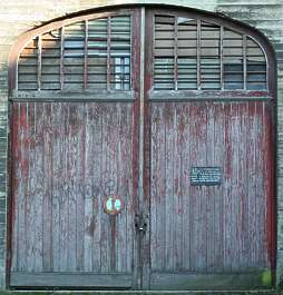 door garage double wood planks