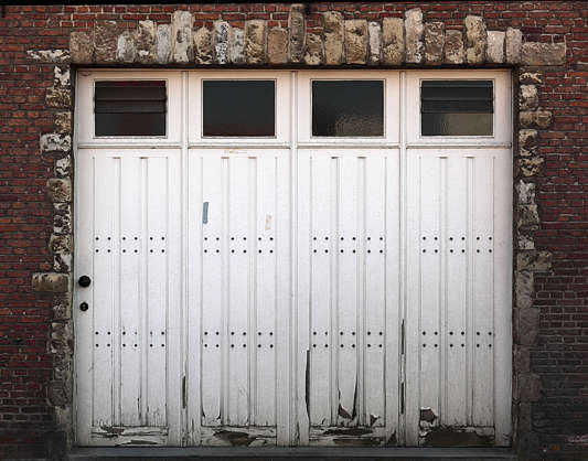 door garage wood double
