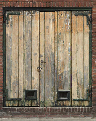 door double wood old bare
