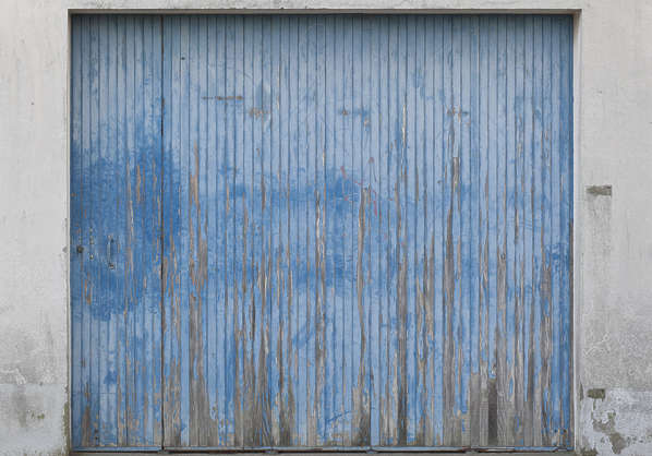 door wood planks paint painted garage