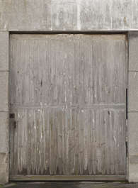 door garage wood planks