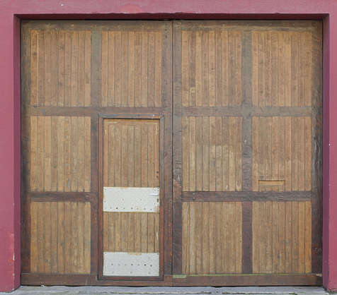 door wood garage planks