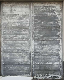 door wood double old planks worn