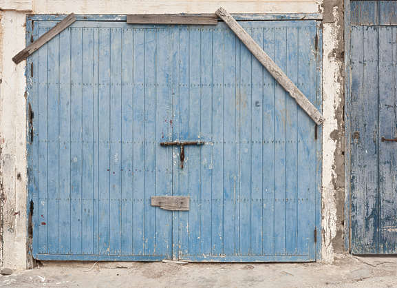morocco door wood double barred old garage