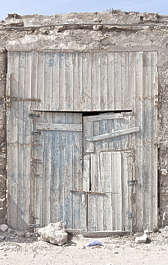 morocco door wood double old damaged garage