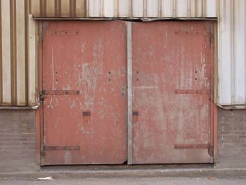 door wood painted old warehouse double
