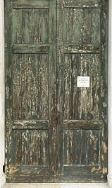 venice italy door wooden double old worn