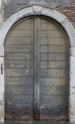 venice italy door wooden double old weathered