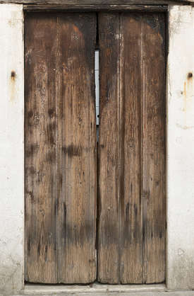 venice italy wood door double old