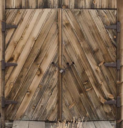 USA Bodie ghosttown ghost town old western goldrush desert arid door wooden barn double