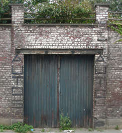 door wall garage wood double