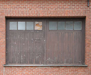 window industrial garage wood double