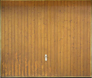 door garage wood planks double