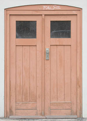 door wood house double