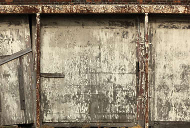 door garage wood old paint dirty derilict