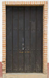 door wood planks old medieval