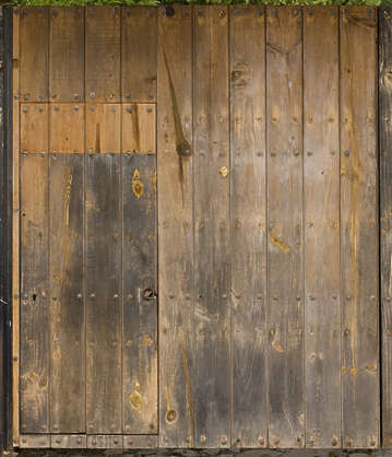 door wood old planks garage