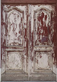 wood painted old planks cracked weathered door