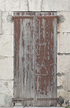 door wood double old